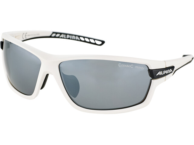 Alpina Tri-Scray 2.0 Lunettes, white matt-black/black mirror